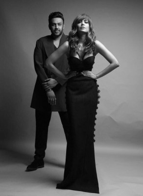 Nikhil Thampi with Esha Gupta