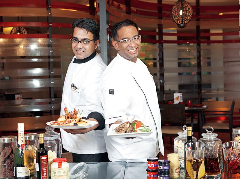 Chefs Suresh Thampy and Arunava Mukherjee