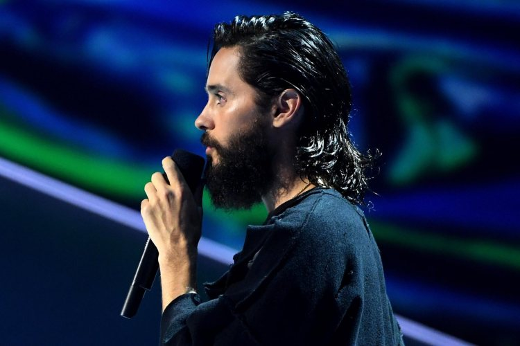 Jared Leto during his tribute to Linkin Park frontman Chester Bennington