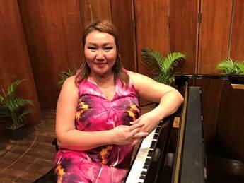 An artiste performing at Mumbai Piano Day