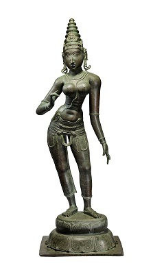 Parvati, Tamil Nadu, 15th - 16th Century Bronze
