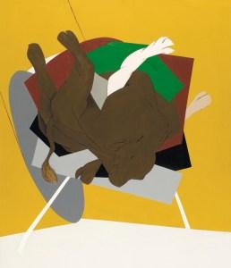 Tyeb Mehta's <em>Untitled (Falling Bull)</em>, 1999