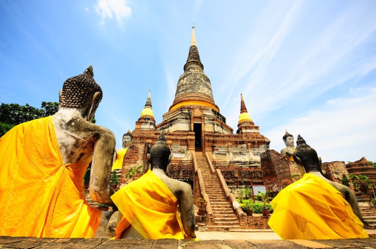 Temple of Ayuthaya in Thailand