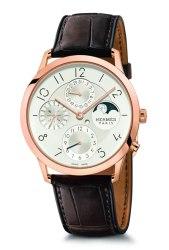 Hermes: Slim d'Hermes 39.5 mm Perpetual Calendar with Dual-time Display