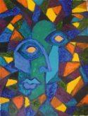 Giddy, Oil on paper, Anando Dutta