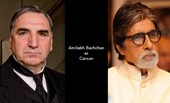 Downton Abbey India: Amitabh Bachchan as Carson