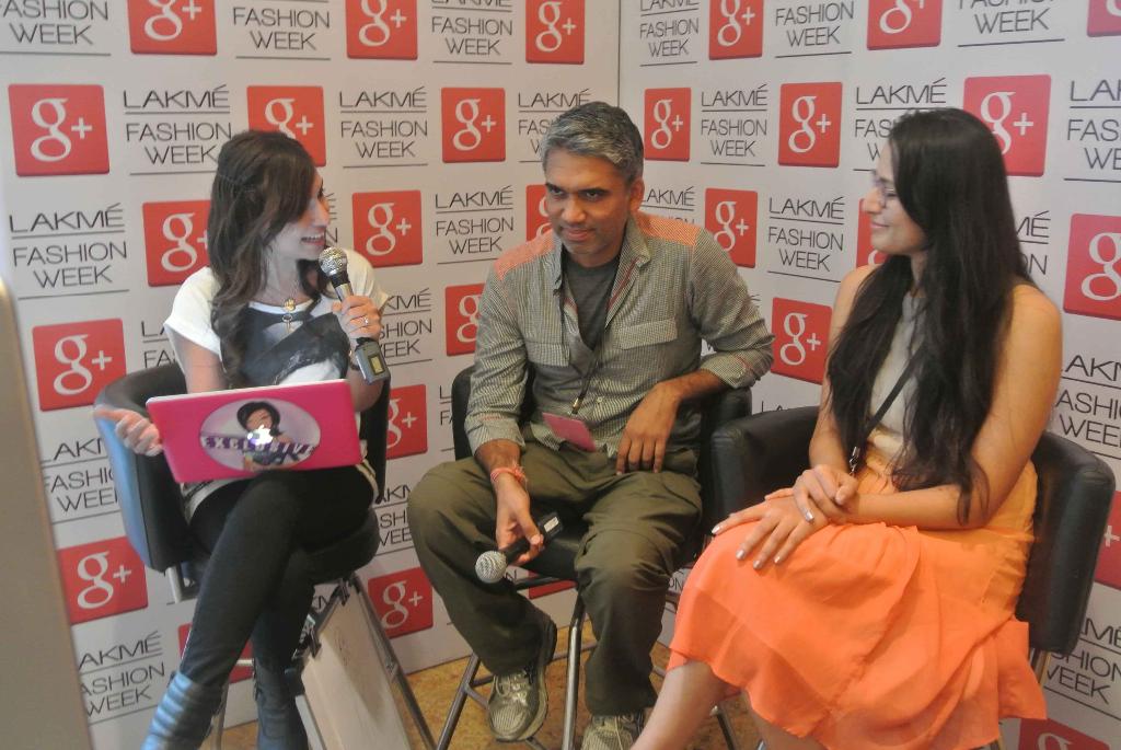 LFW Google+ Hangout with Miss Malini, Rajesh Pratap Singh and Purnima Lamba