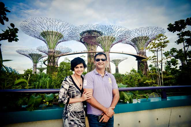 Mandira Bedi: Being romantic at Gardens by The Bay