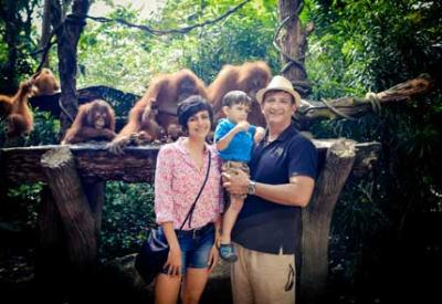 Mandira Bedi: Monkeying around at the Singapore zoo