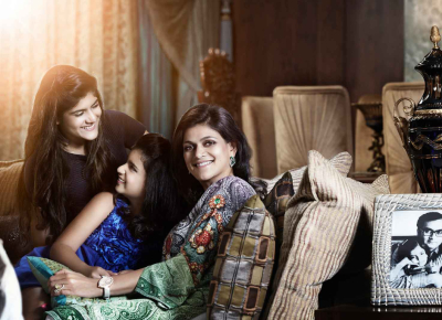 Neerja Birla with Ananyashree and Advaitesha
