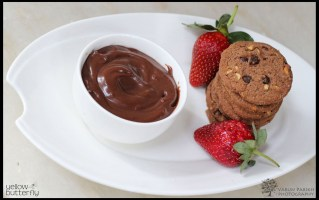 Homemade chocolate and paprika dip