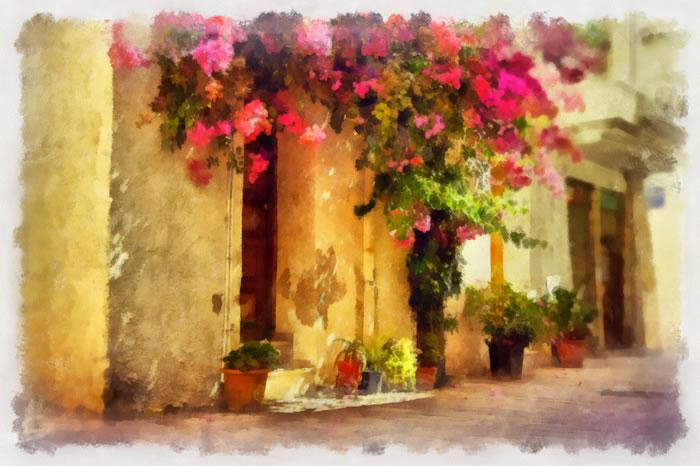 Kalki Koechlin in Greece, Crete village