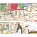 Louis Vuitton Travel Book Venise, illustre par Jiro Taniguchi, 2014 : vues du marche du Rialto.