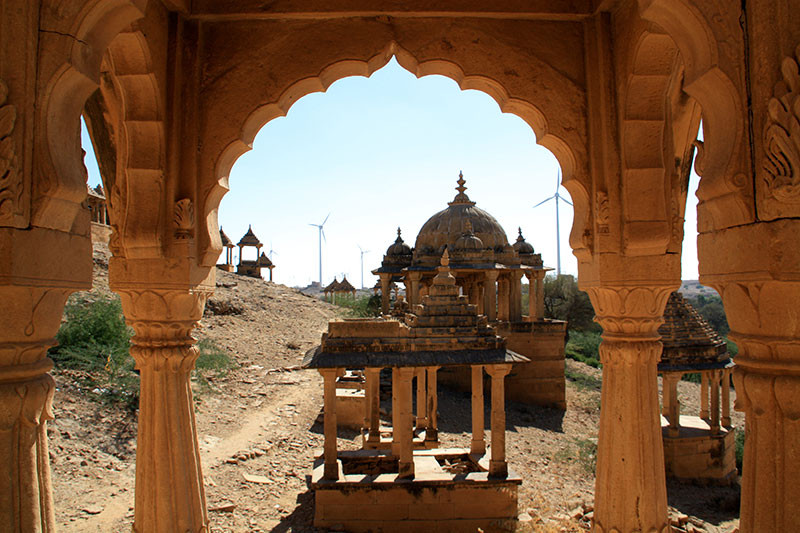 Bada-Bagh-Jaisalmer-View-with-Windpower