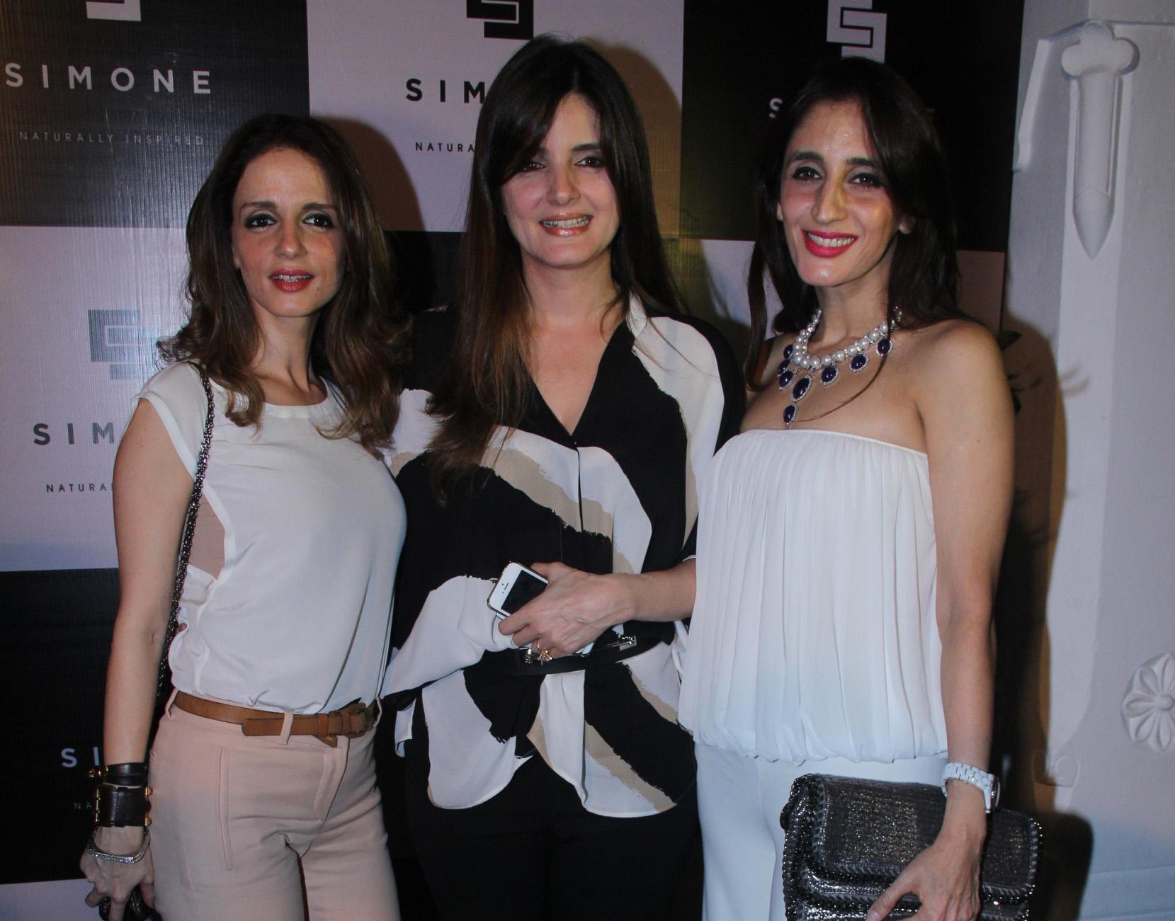 simone Suzanne Khan, Simone Arora,Farah Khan Ali