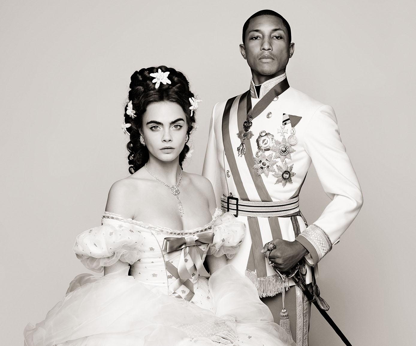 Pharrell Williams Cara Delevingne - Reincarnation by Karl Lagerfeld