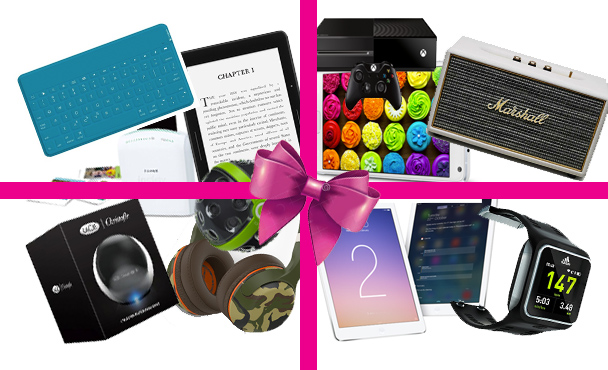 Gadgets giftinging gadgets of the year 2014 samsung apple ipad air 2 xbox gaming polaroid camera fujifilm kindle voyage skullcandy headphones marshall stanmore portable speakers lacie silver hard drive panono camera panoramic adidas watch logitech wireless bluetooth keyboard
