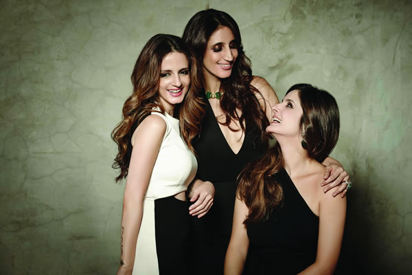 Sussanne Khan, Farah Khan Ali, Simore Arora for Verve December 2014 cover shoot