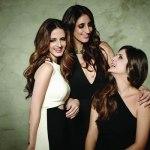 Sussanne Khan, Farah Khan Ali, Simore Arora for Verve December 2014 cover shoot