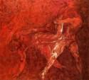 Wrestlers by Deepak Shinde at Jehangir Art Gallery, Mumbai