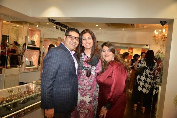 Gautam and Krishaa Ghanasingh, Sangita Singh at the Ghasingh store in Bandra