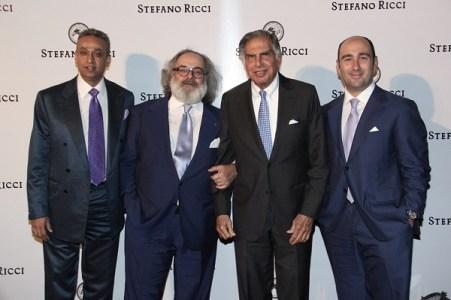 Jackie Manglani, Stefano Ricci, Ratan Tata, Filippo Ricci