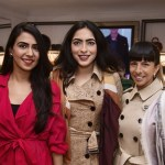Divya Arora, Zoya Singh, Anushka Menon at the Burberry store relaunch in Delhi