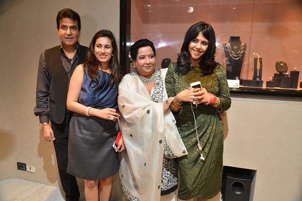 Jeetendra Kapoor, Aparna Chudasama, Shobha Kapoor, Ekta Kapoor at the Nirav Modi store launch