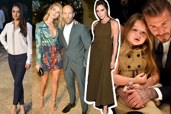 Burberry David Beckham Jason Statham Rosie Huntington Whiteley