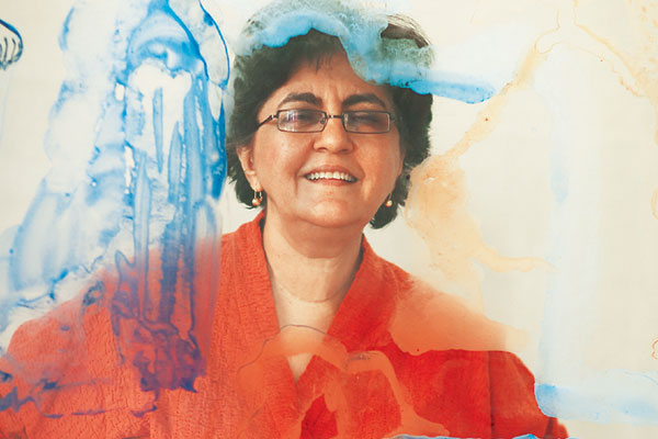 Nalini Malani, one of India's leading contemporary artists, awarded the Fukuoka Arts and Culture Prize in 2013 and the St. Moritz Art Masters Lifetime Achievement Award in 2014