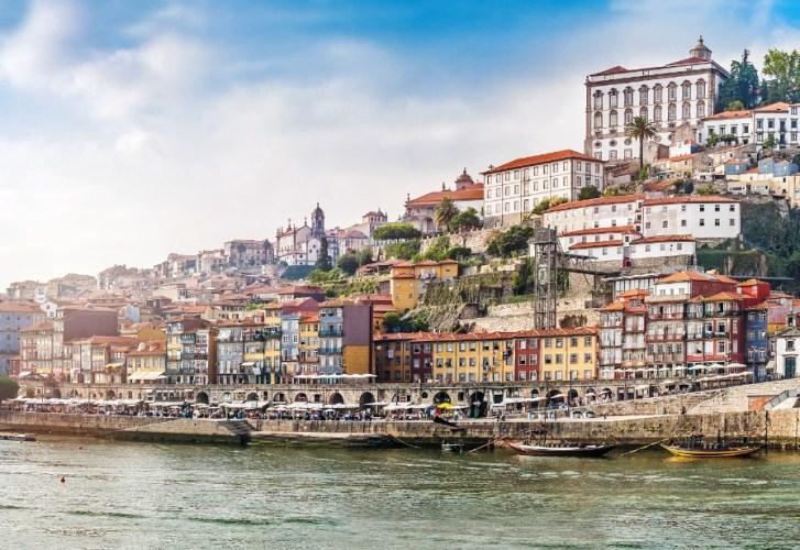 Cityscape of Porto at sunset