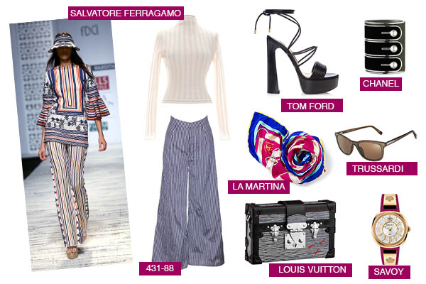 Pinstripes fashion trend salvatore ferragamo tom ford la martina louis vuitton trussardi