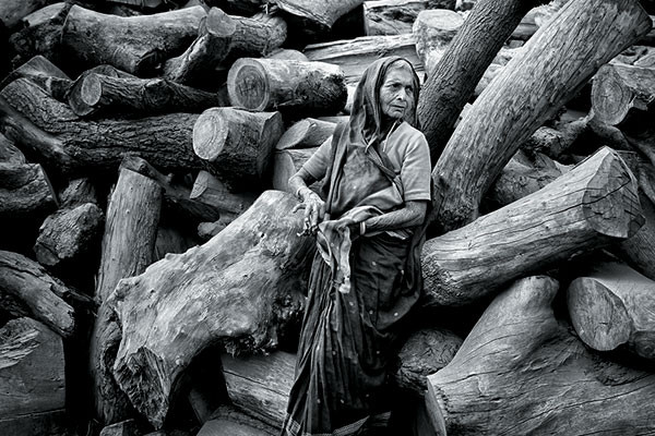 The Dark Lady in Woods, Varanasi