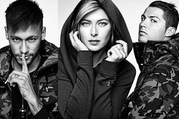 maria sharapova, cristiano ronaldo, neymar for nike, sports