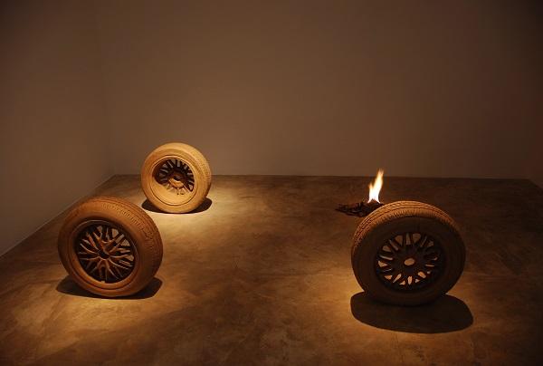Fire by Krishnaraj Chonat at Gallery Ske, Bengaluru