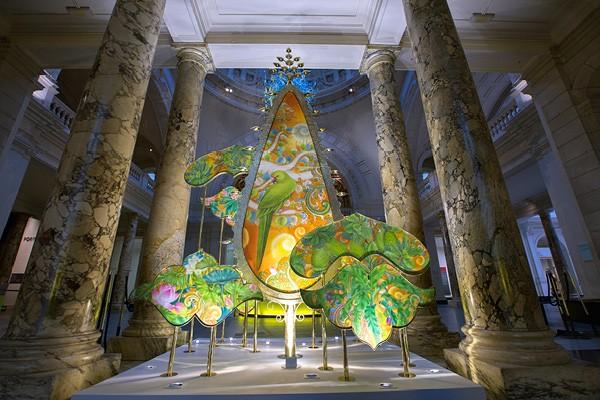 'Kalpataru: The wishing tree' installation at Victoria and Albert Museum, London