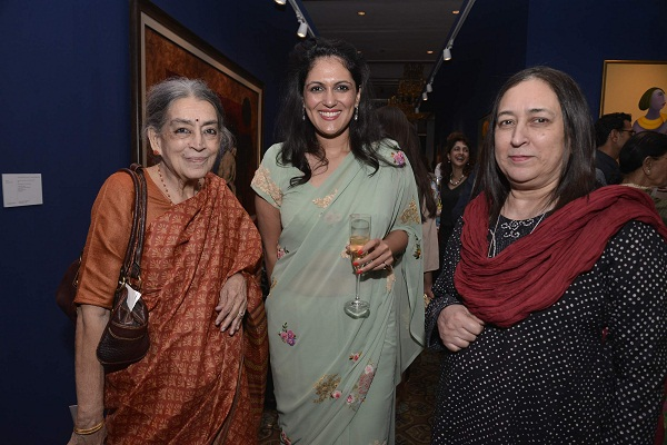 Lalitha Lajmi, Sonal Singh, Nasreen Munni Kabir at Christie's cocktail party in Mumbai