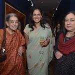 Lalitha Lajmi, Sonal Singh, Nasreen Munni Kabir at Christie's cocktail party in Mumbai