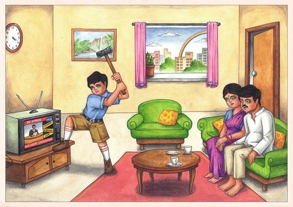 Artwork by Priyesh Trivedi for Home at Chatterjee & Lal Mumbai