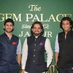 Samarth, Siddharth and Sarthak Kasliwal at the launch of Gem Palace in Mumbai