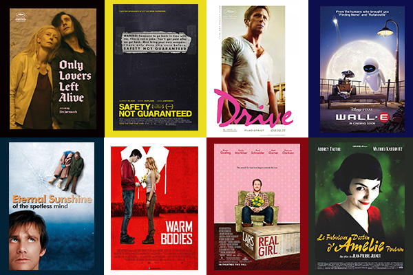Unconventional Romances, Valentine's Day, romantic comedy, movies, Hollywood, Amelie, Wall-E, Warm Bodies, Eternal Sunshine of the Spotless Mind, Drive, Only Lovers Left Alive