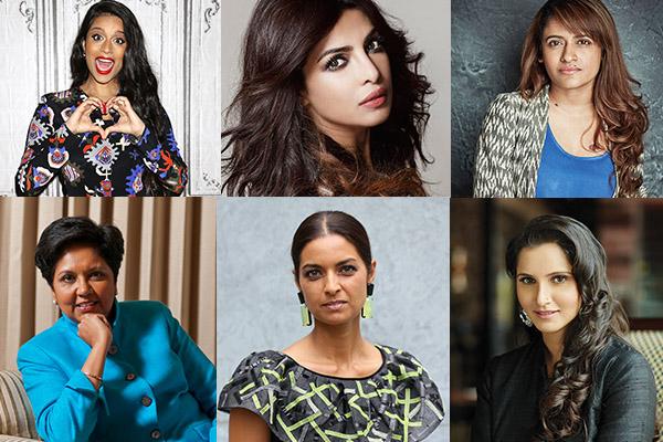 Power Women 2016, Priyanka Chopra, Rohini Iyer, Jhumpa Lahiri, Sania Mirza, Indra Nooyi, Lilly Singh