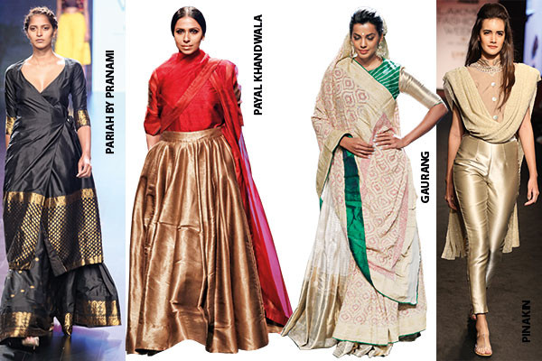 Fashion, Lakme Fashion Week, Winter/Festive '16 edition, twin suits, saris and skirts