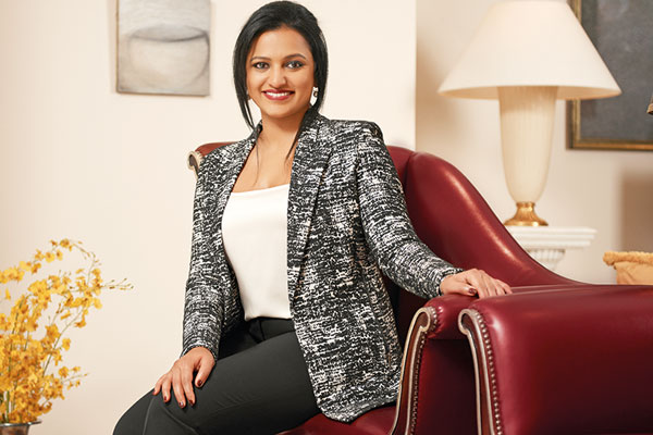 Amruda Nair, Leela heiress and presently joint managing director and chief executive officer of the Qatar-based Aiana Hotels and Resorts LLC