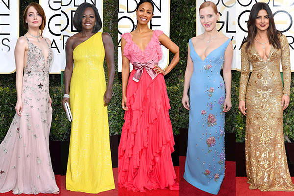 Golden Globes 2017, fashion, red-carpet