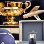 The Jaeger-LeCoultre Gold Cup for the British Open Polo Championship with engraved Reverso Grande Taille watches