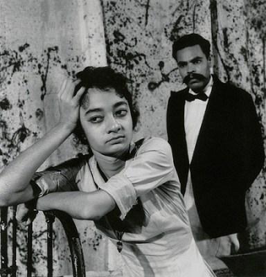 Eurydice by Jean Anouilh. Dir. E.Alkazi. Alaknanda Duriaud as Eurydice. Theatre Unit, Bombay, 1959.