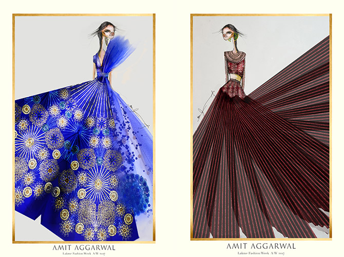 Amit Aggarwal, Designer, Fashion, Featured, Lakme Fashion Week, Lakme Fashion Week Winter Festive 2017, Online Exclusive, Style
