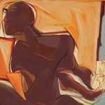 Artwork by Jatin Das for Figures In Motion at Jehangir Art Gallery