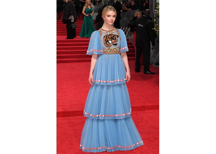 Fashion, Featured, Online Exclusive, Red Carpet, Style, Anya Taylor-Joy in Gucci at the British Academy of Film and Television Awards